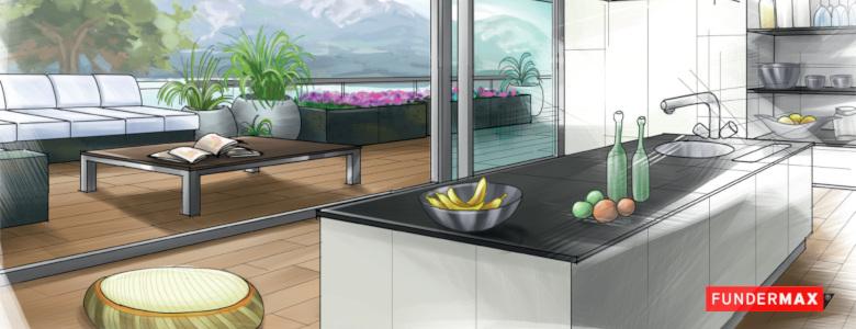 Konyhai munkapultok és kültéri bútorok kompaktlemezbõl, 3 új felülettel