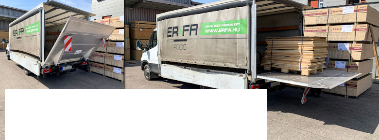 Új szolgáltatás! Szabott anyag házhoz szállítása