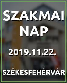 Õszi Szakmai nap, 2019. november 22-én Székesfehérváron!